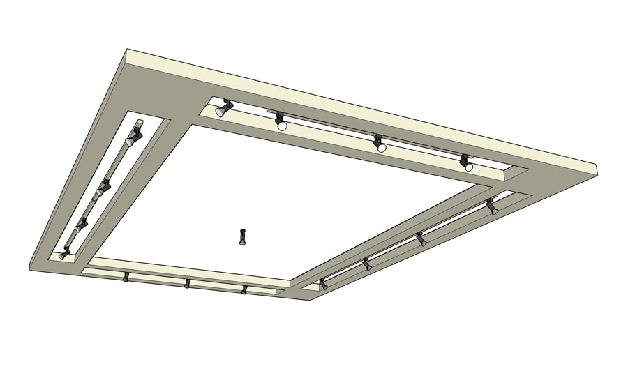 how to build a radiused lighting soffit